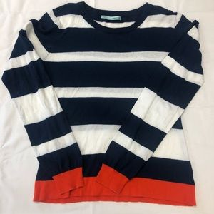 Maurices blue striped longsleeve top size Lg